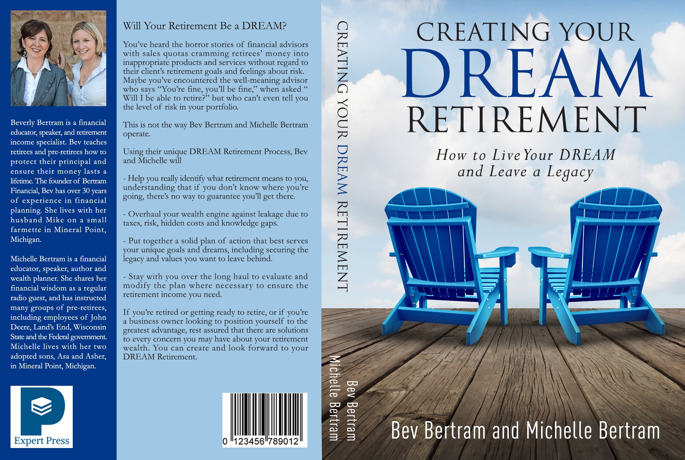 Create stunning book cover about retirement (no boring designers allowed!)