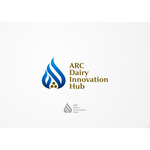 Create a logo for a collaborative research venture in dairy science innovation