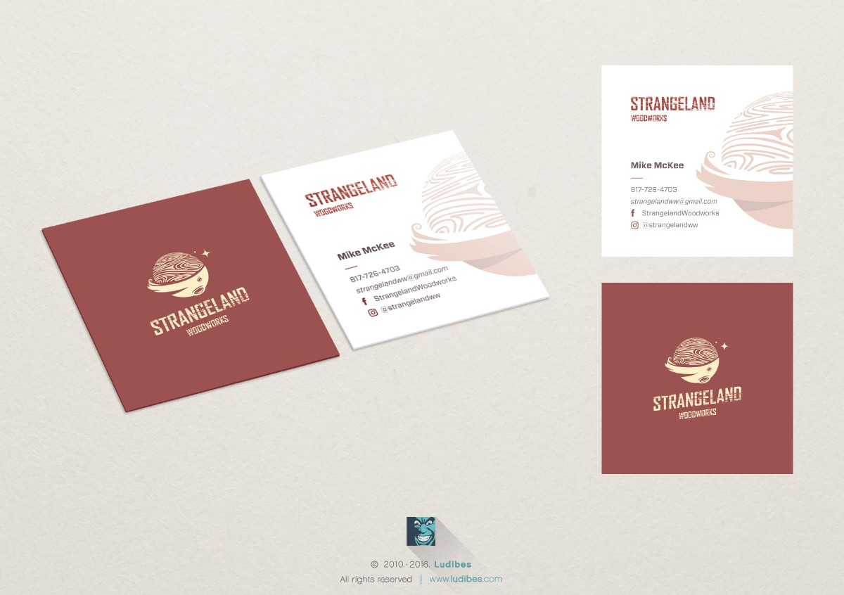 Strangeland Business Cards