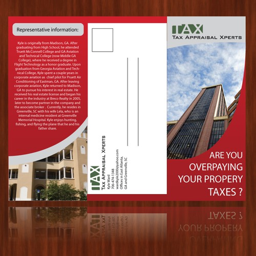 Help Tax Appraisal Xperts with a new print or packaging design