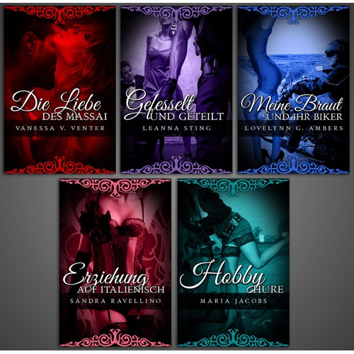 5 Designs for German Erotic Ebook Series