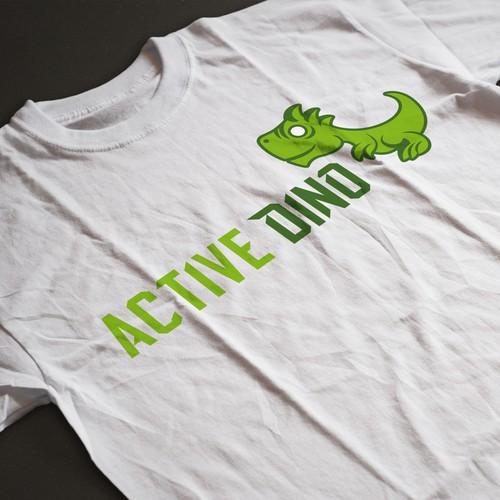 Active Dino Mascot Logo