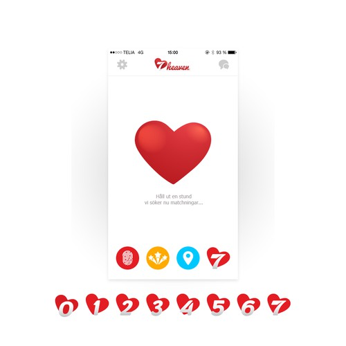 Icon design for 7heaven dating app