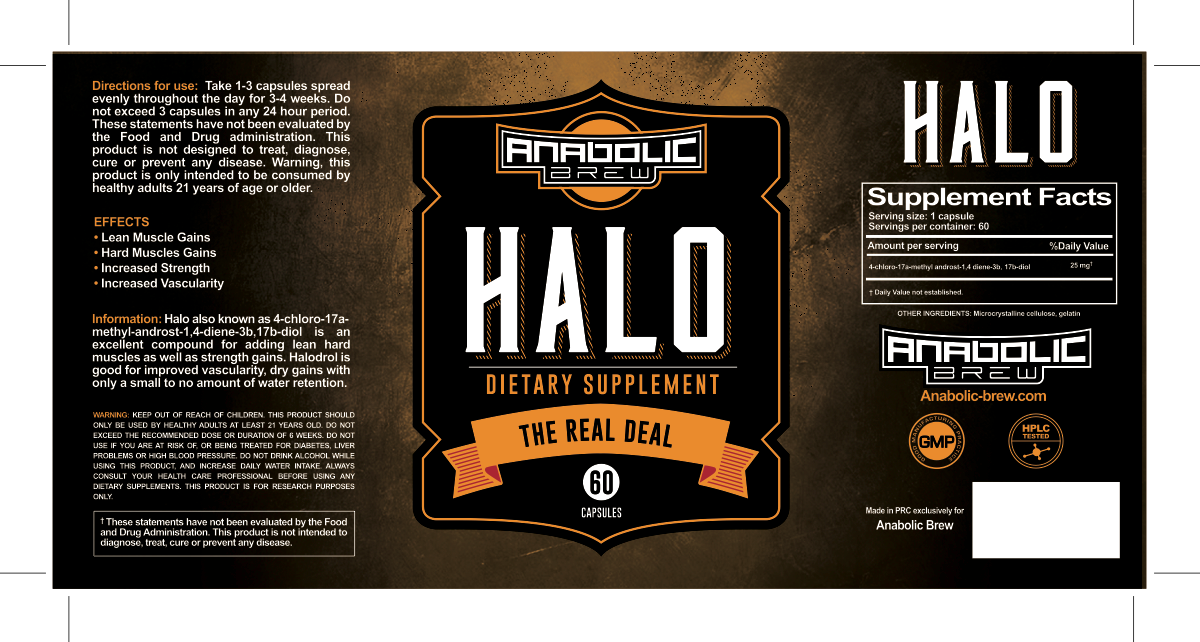 5 labels Anabolic brew