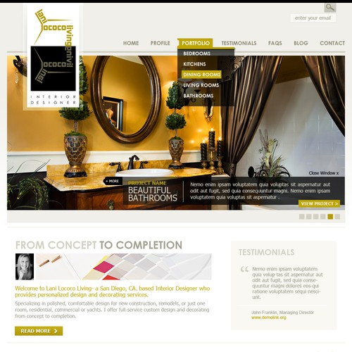 WordPress Design for Lani LoCoco Living