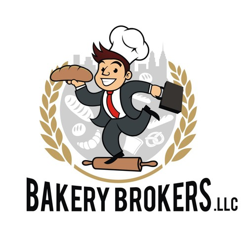 Bakery Brokers Logo design and Mascot