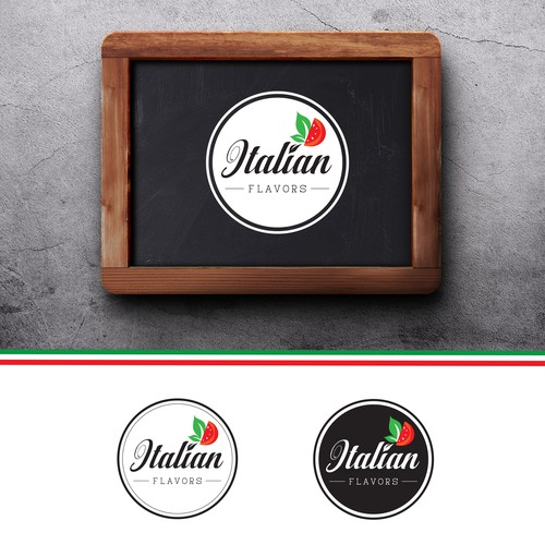 Logo for Italian Flavors Food Truck