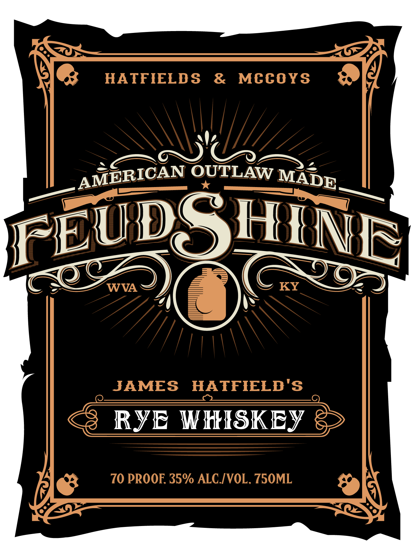 FEUDSHINE label and font