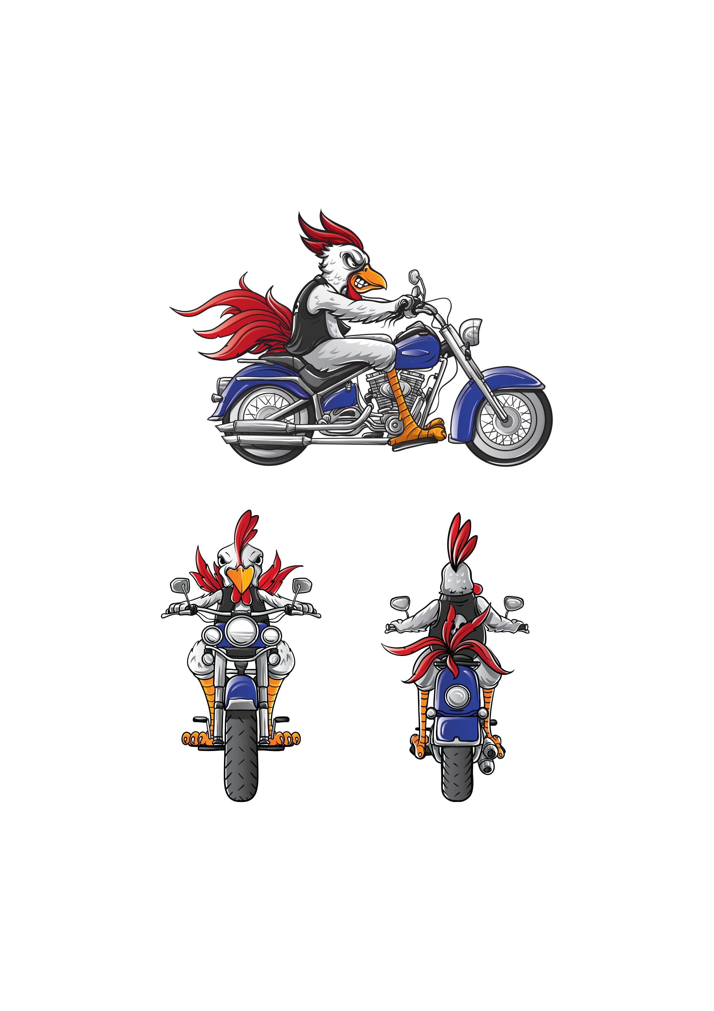 Harley-Davidson logo mascot