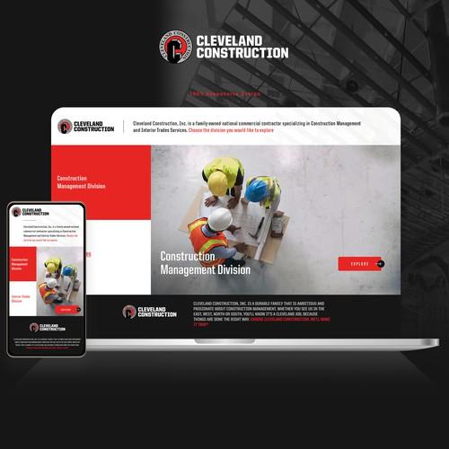 Landing page design for Clevelandconstruction.com