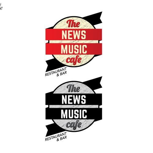 the news music cafe sxm, REVAMP the old logo. keep it simple