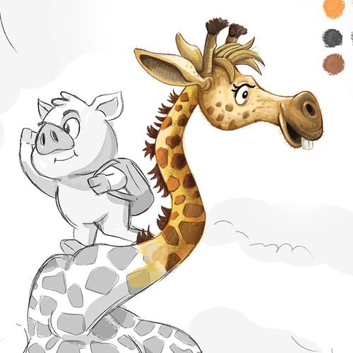 Giraffe Children's Book