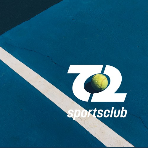 creative logo concept for T2 sportsclub