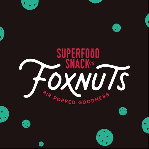 A young and energetic logo for a superfood snack company