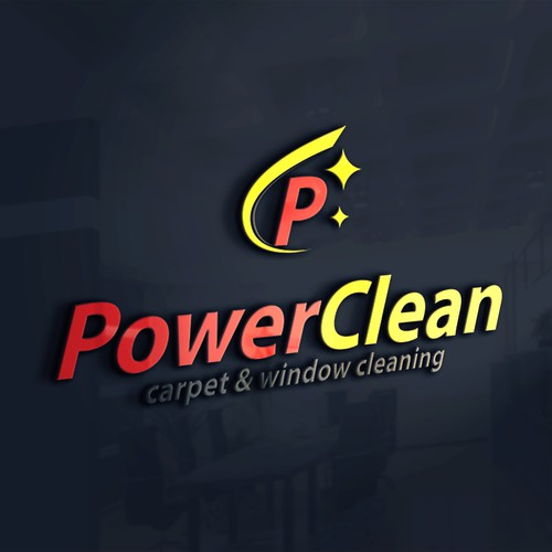 Power clean logo design template