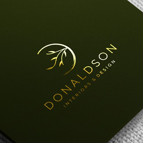 Organic and elegant monogram logo design for an interior designer
