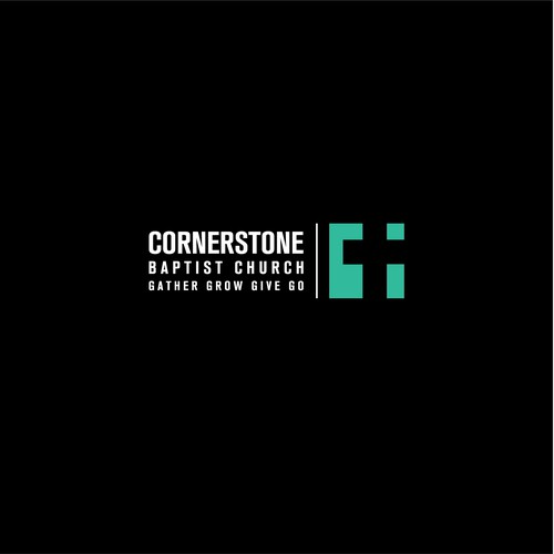 strong and bold consept for CORNERSTONE CHURCH