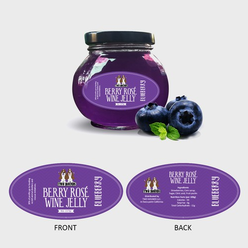 Label design for jelly