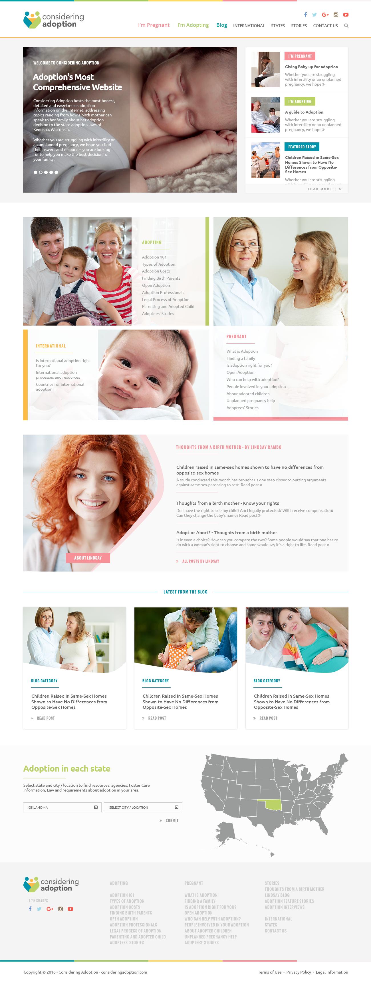 A+ Adoption Content Needs A+ Website Redesign