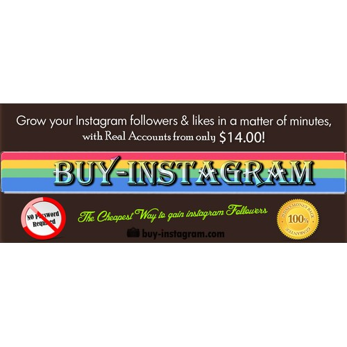 Create the next banner ad for Buy-Instagram.com