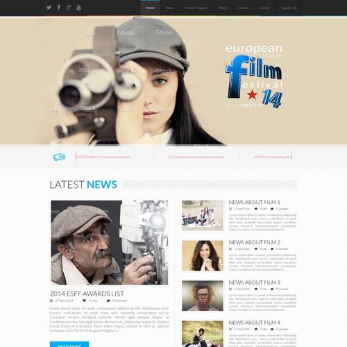 New website design for European Student Film Festival