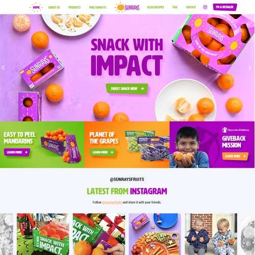 We need an exciting, kid-friendly web design for our expanding national fresh fruit brand