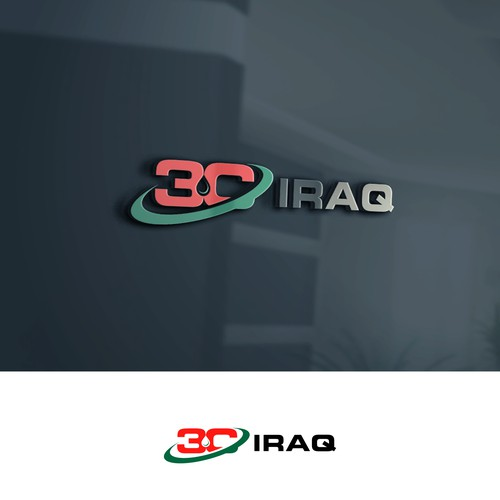 A logo for 3C Iraq construction and services company in Iraq.