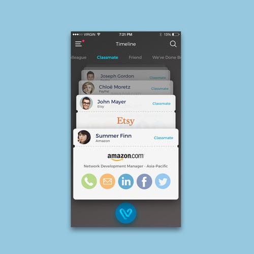 Digital Business Card App Concept