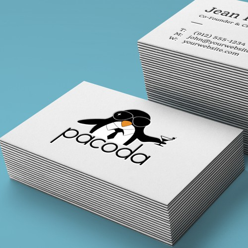 Create a modern, stylish and young logo with a cool penguin!