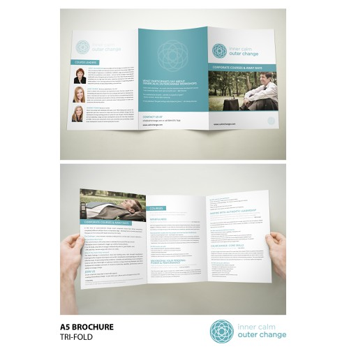 brochure design for InnerCalm_OuterChange