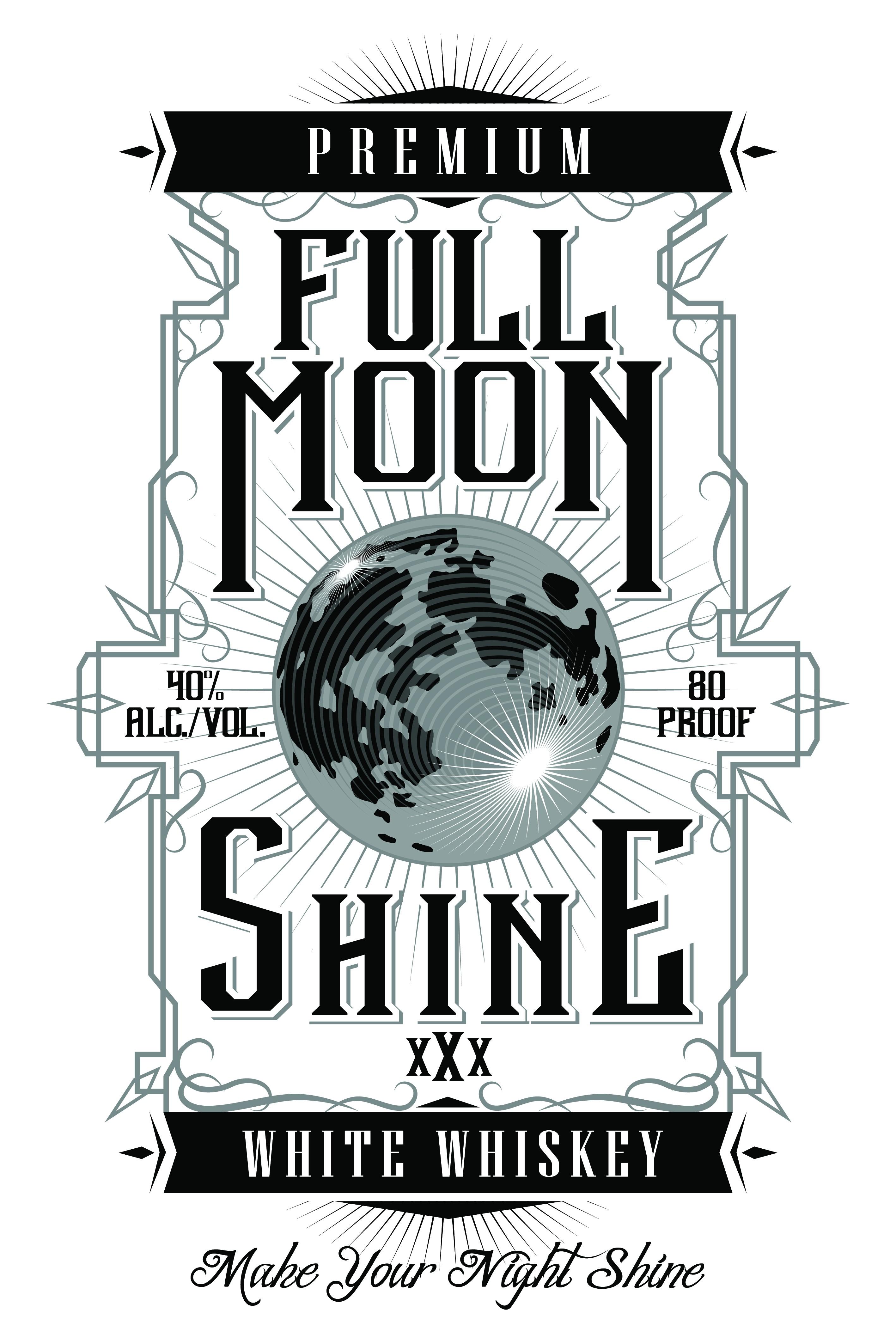 Full Moon Shine logo design