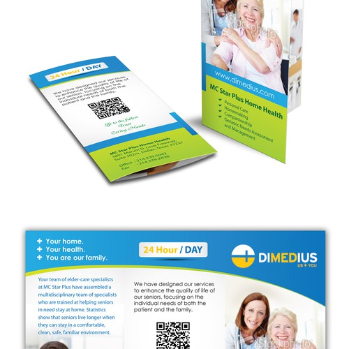 Create the next brochure design for Dimedius