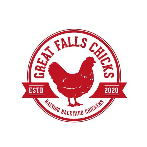 Raising backyard chickens logo