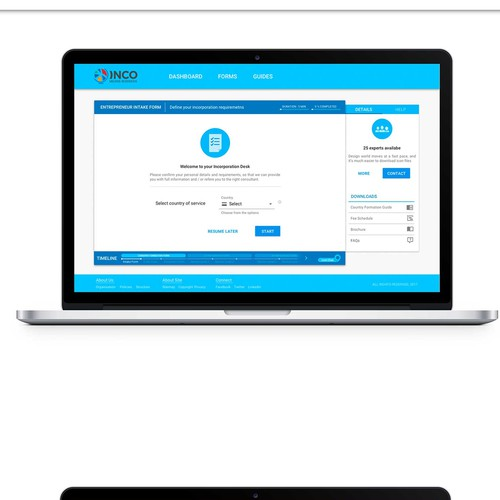 Landing page UI design for lead intakes