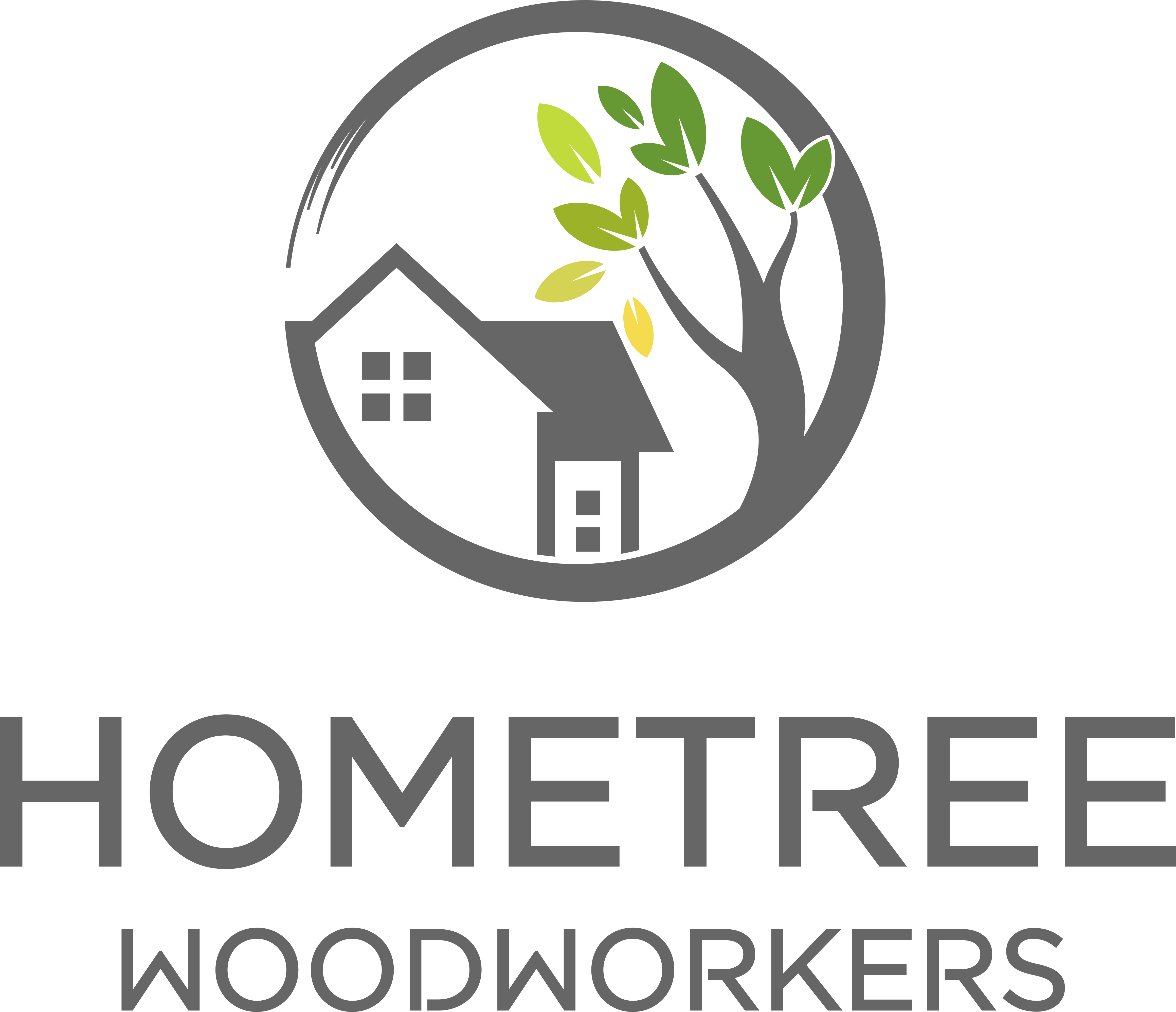 New logo design for HomeTree Woodworkers