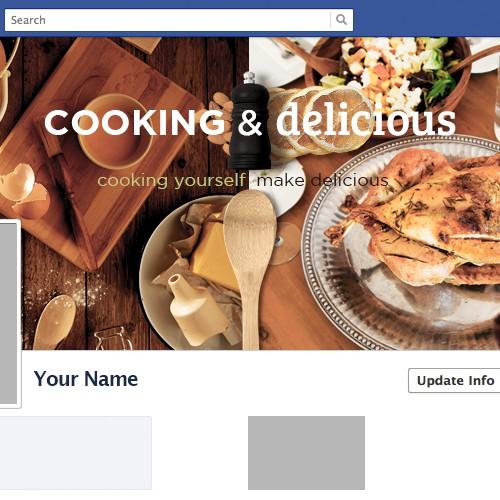 Cooking & delicious facebook cover