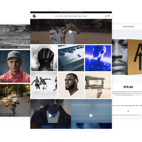 Squarespace website for photography