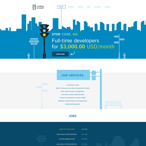Webdesign for Software Developer Company