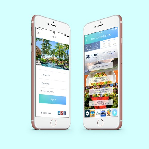 Tourism Hawaii App Design