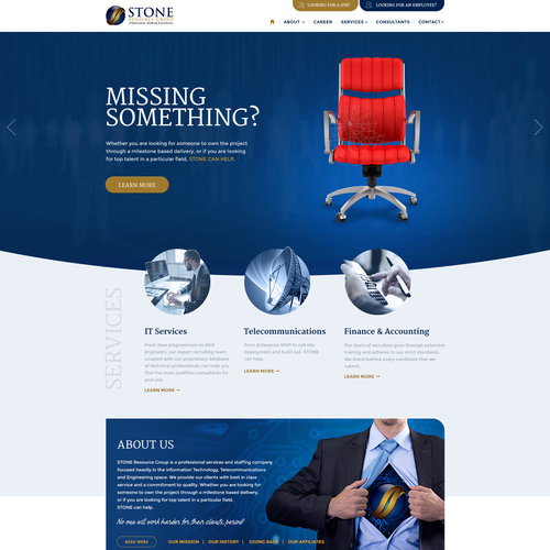 Responsive webdesign for IT recruitment company