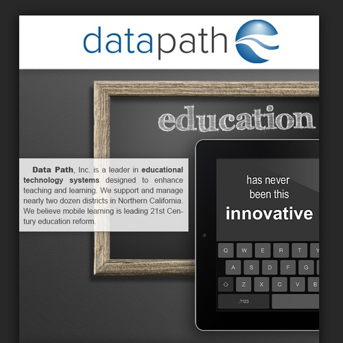 Education meets Technology, picture info flyer