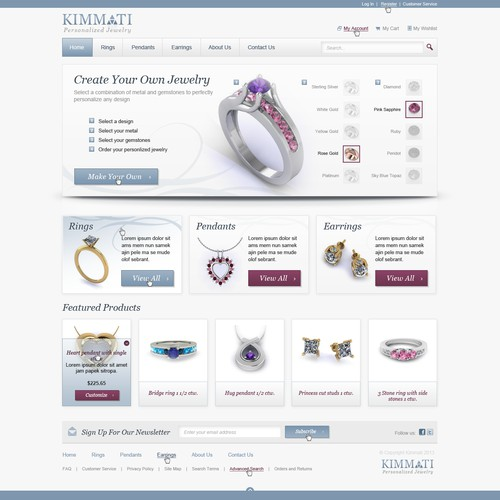 Help Kimmati with a new homepage design