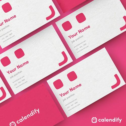 Calendar and smile logo concept