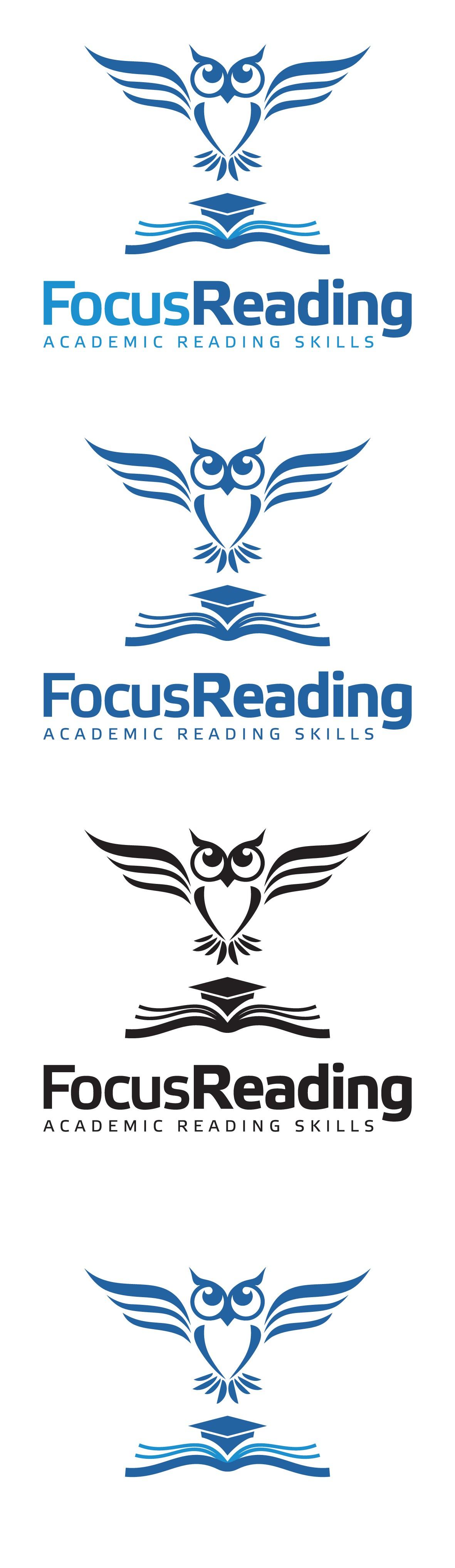 Simple brand image for Focus Reading / 教育と自己成長を真剣に支援する「速読&読書」技法のブランドイメージをシンプルにデザインしてください。