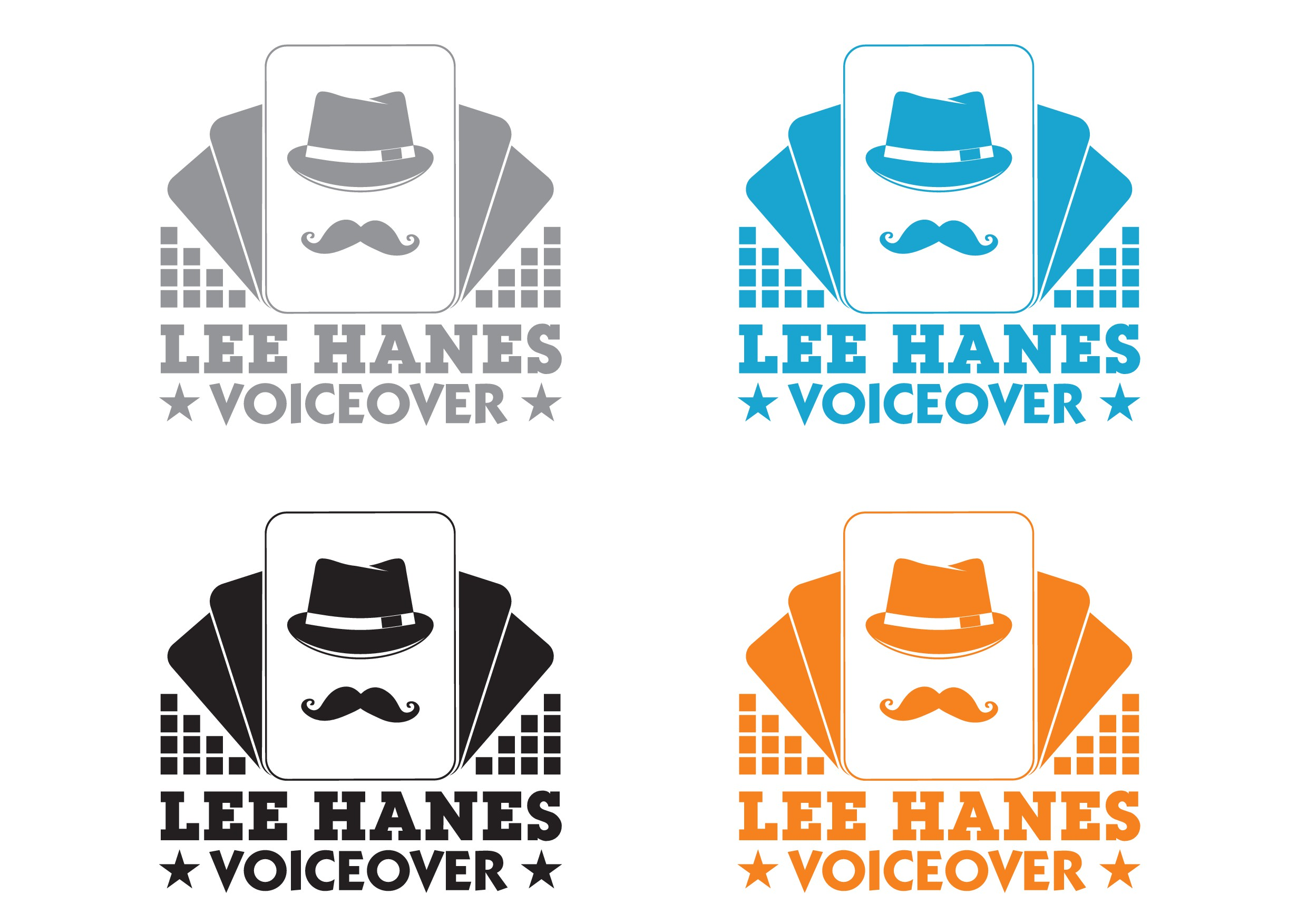 Capture the essence of voiceover in a logo