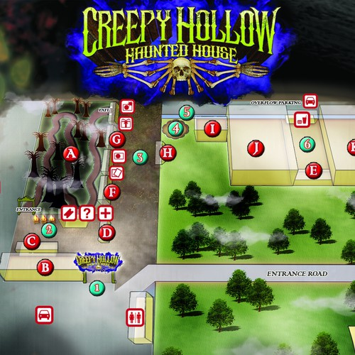 """Visitor Map for """"Creepy Hollow Haunted House"""", Texas"""