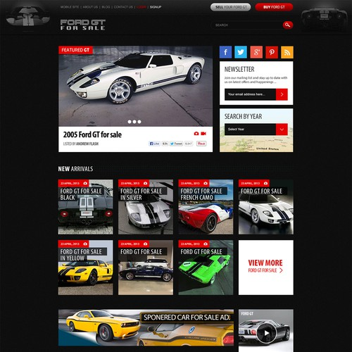 New website design wanted for FordGtforsale.com