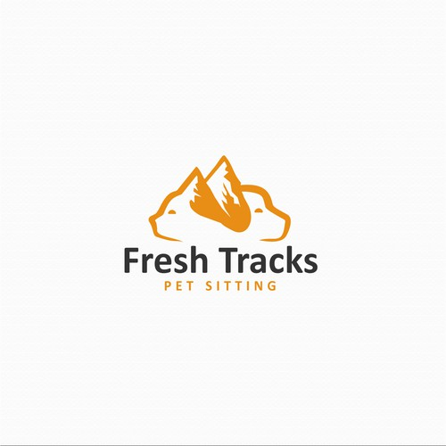 Fresh Tracks logo concept.
