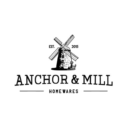 vintage rough logo handmade