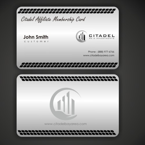 Help create a metallic membership card for Citadel.